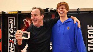 Jannik Sinner with his coach Riccardo Piatti